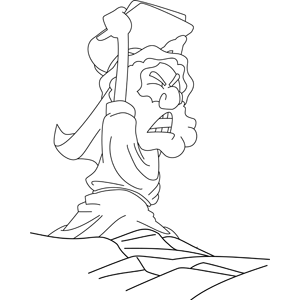 Moses Smashes the Stone Tablets coloring page