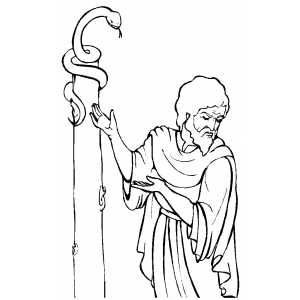 Moses Standing By Pillar coloring page