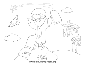 Moses Stone Tablets coloring page