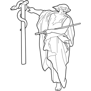 Moses and Bronze Snake coloring page