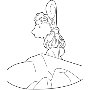 Moses at Mount Sinai coloring page