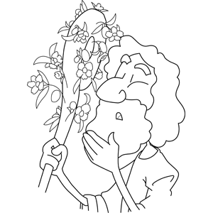 Moses with Aaron's Staff coloring page