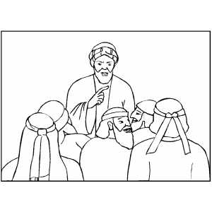 Noah Talking To People coloring page