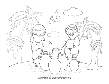 Oil in Jugs coloring page