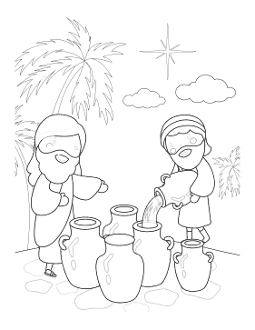 Oil in Jugs Vertical coloring page