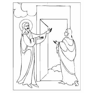 opening door to heaven coloring page opening door to heaven coloring page