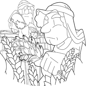 The People of Beth Shemesh Were Harvesting Their Wheat in the Valley coloring page