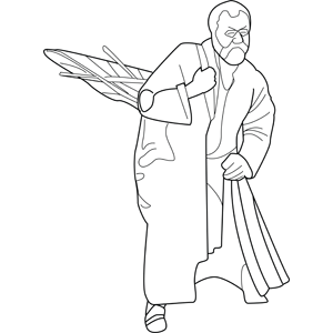 Wandering in the Desert coloring page