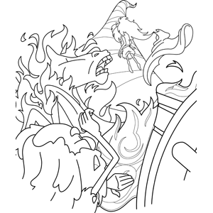 A Whirling Tempest Will Burst on the Head of the Wicked coloring page