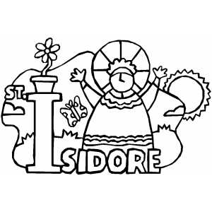 Isidore coloring page