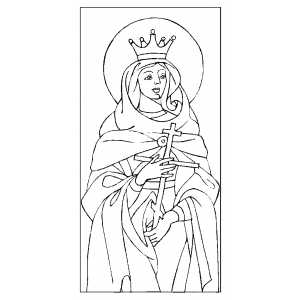 Saint Fevronia coloring page
