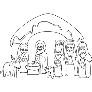 Three Wise Men from the East coloring page