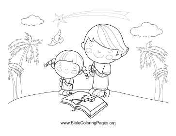 The Lords Prayer coloring pages p22 | Bible-Printables | 281x363