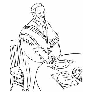 Priest Saying Grace coloring page