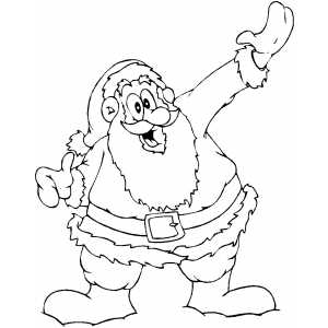 Excited Santa Thumbs Up coloring page