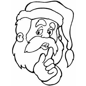 Quite Santa Face coloring page