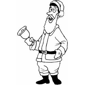 Santa With Bell coloring page