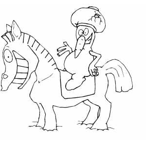 Showman On Horse coloring page