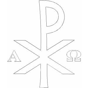 Alpha And Omega coloring page