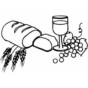 Bread And Wine Coloring Page