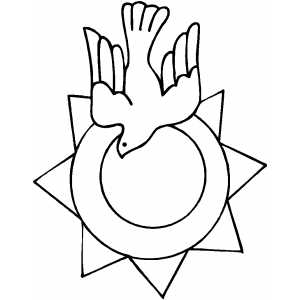 Dove And Sun coloring page