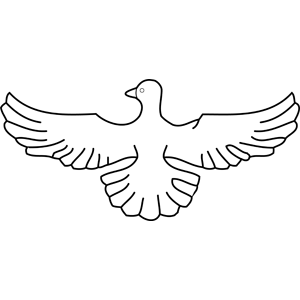 Dove with Wings Spread coloring page