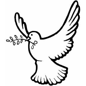 Flying Dove coloring page