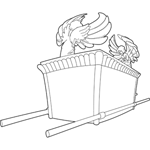 Old testament coloring pages for Ark of the covenant coloring page